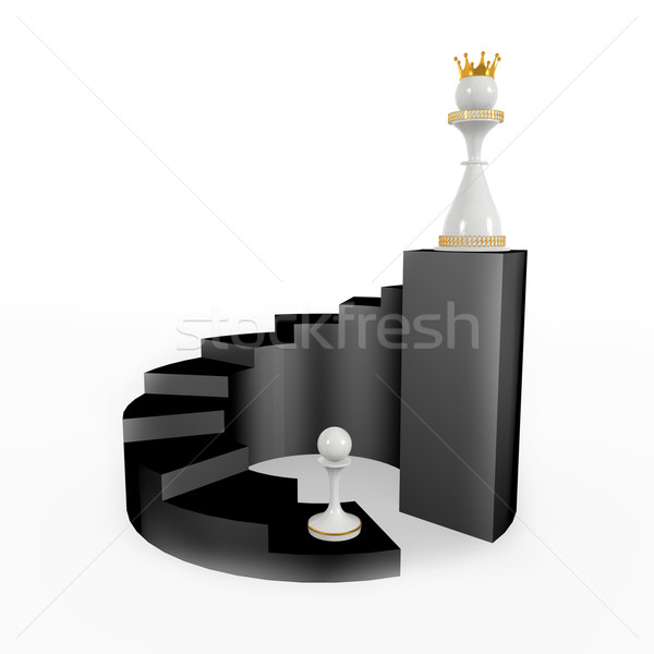 pawn becomes a queen Stock photo © dengess