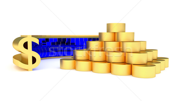 coins and dollatr Stock photo © dengess