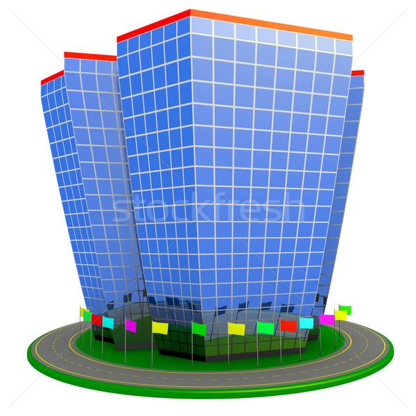 Edificio hotel negocios centro rotonda ruta Foto stock © dengess