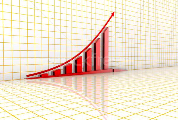 Business grafiek grid papier abstract achtergrond Stockfoto © dengess