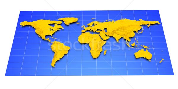 Map of Earth Stock photo © dengess