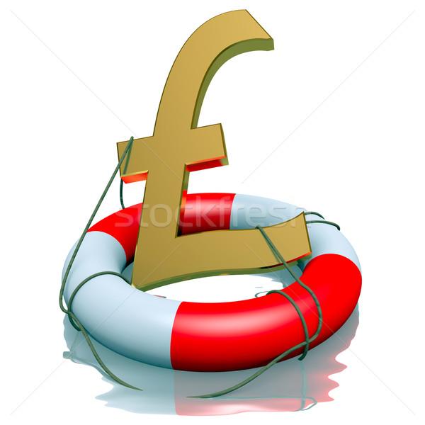 Libra símbolo negócio fundo segurança vermelho Foto stock © dengess