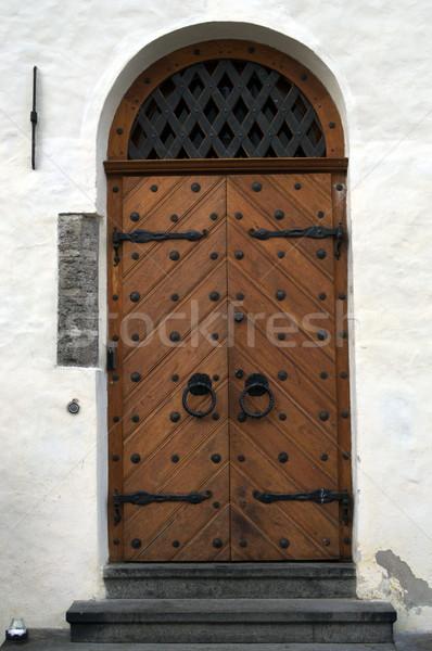 Antiguos puerta foto edad Tallinn Foto stock © dengess