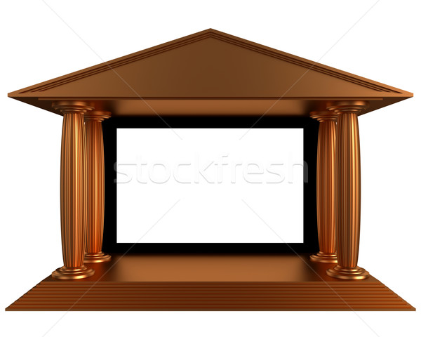 Stock photo: antique cinema theater