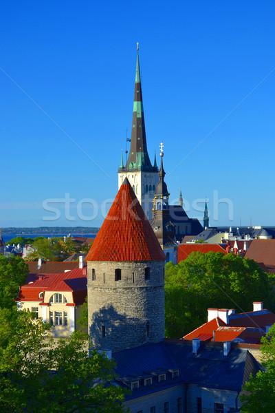 View città vecchia cityscape cielo costruzione strada Foto d'archivio © dengess