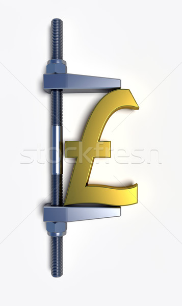 pound sterling golden sign Stock photo © dengess