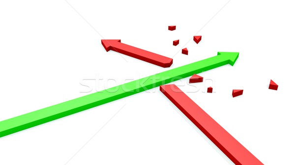 Arrow crashed arrow Stock photo © dengess