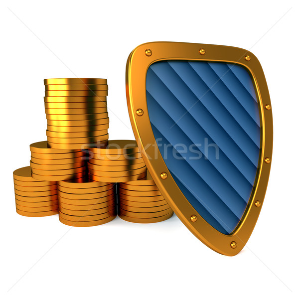 Schild dollarteken uitstekend 3d illustration geld achtergrond Stockfoto © dengess