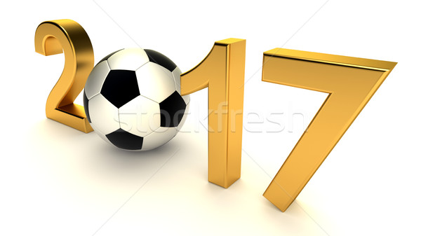 Year 2015 with soccer ball Stock photo © dengess