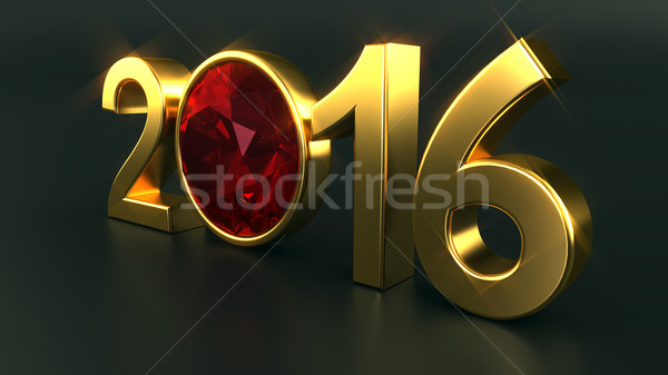 New year 2016 ruby Stock photo © dengess