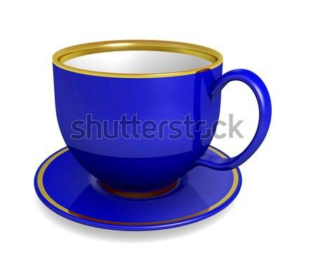 Azul taza blanco ilustración café diseno Foto stock © dengess
