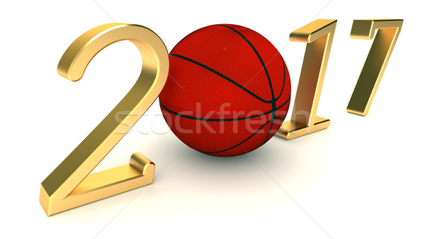 Basketbal jaar witte ontwerp achtergrond kunst Stockfoto © dengess
