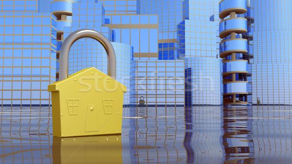 Stad slot abstract business geld gebouw Stockfoto © dengess