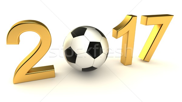 Year 2017 soccer ball Stock photo © dengess