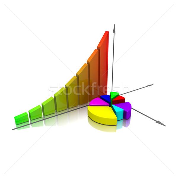 Abstract business succes financiële grafiek bars Stockfoto © dengess