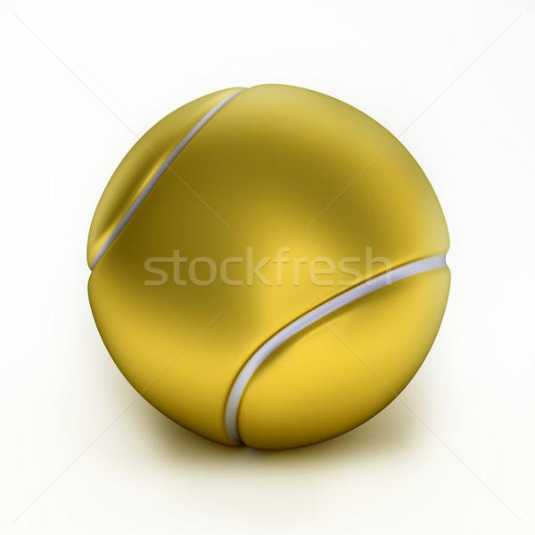 Altın tenis topu spor arka plan top Stok fotoğraf © dengess