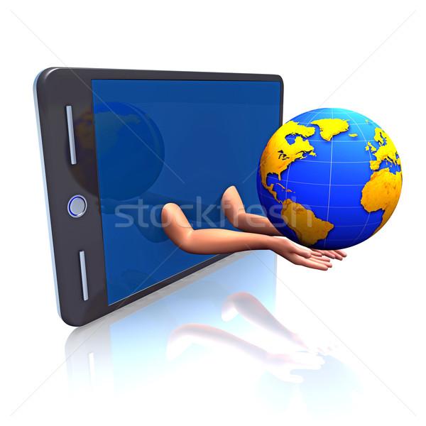 Earth, pad, hands Stock photo © dengess