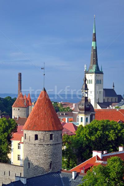 Vecchio Tallinn Estonia view città vecchia costruzione Foto d'archivio © dengess