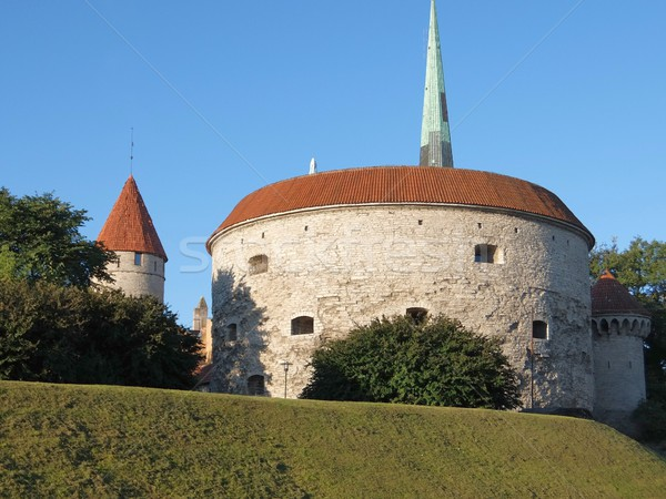Oude Tallinn Estland oude binnenstad architectuur gebouw Stockfoto © dengess
