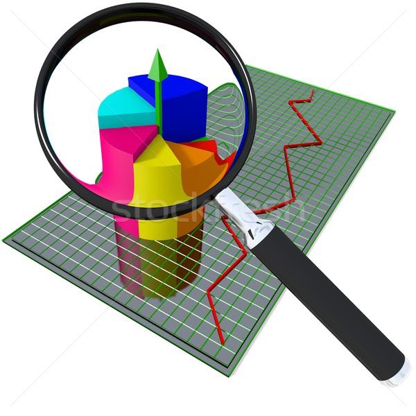 Działalności wykres pętla odizolowany informacji biały Zdjęcia stock © dengess