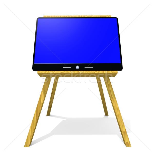 компьютер мольберт современных технологий интернет ноутбука Сток-фото © dengess