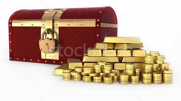 Gold Treasure chest Stock photo © dengess