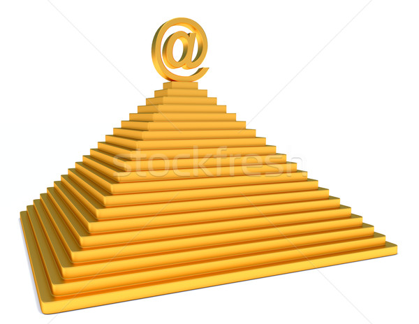 pyramid and gold email Stock photo © dengess