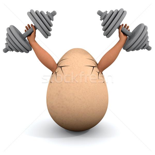 Ei illustratie witte Pasen lichaam Stockfoto © dengess