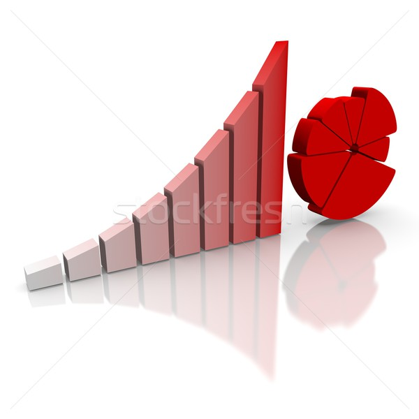 abstract business chart Stock photo © dengess