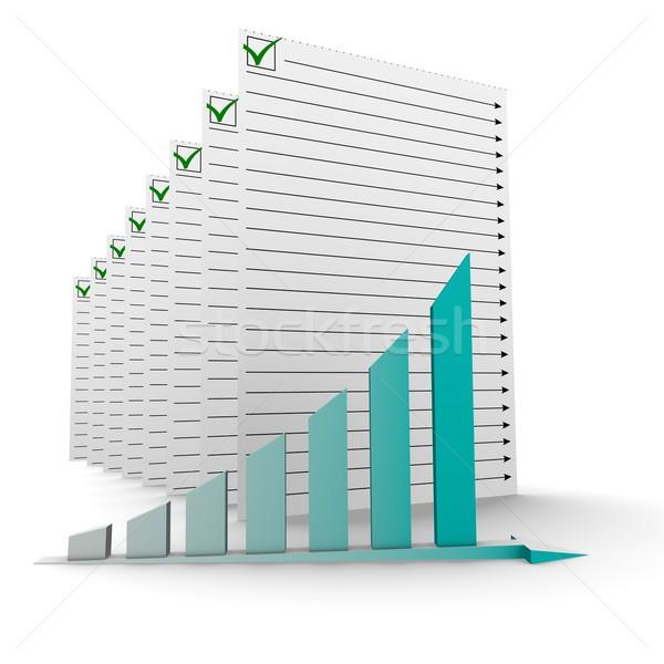 business graph Stock photo © dengess