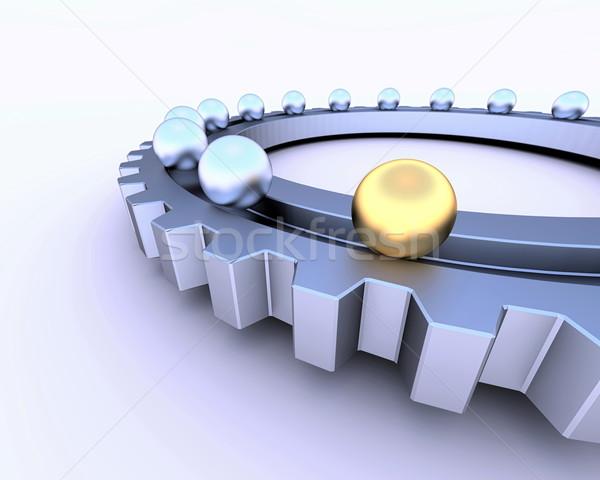 ギア 球 抽象的な 業界 産業 鋼 ストックフォト © dengess
