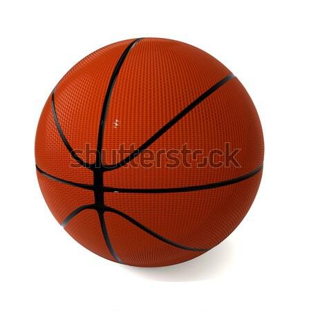Basketbal witte sport symbool sport fitness Stockfoto © dengess