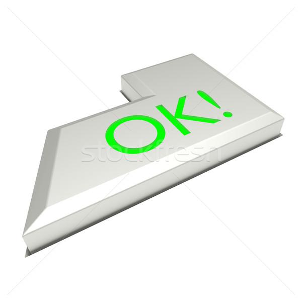 Enter key button, OK sign Stock photo © dengess