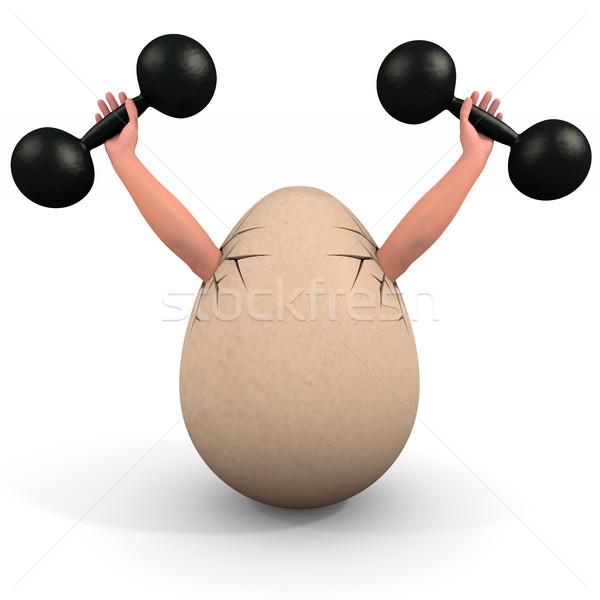 Ei illustratie gezondheid Pasen Stockfoto © dengess