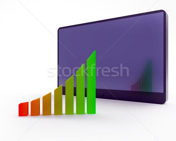 Resumen negocios tabla ordenador fondo Foto stock © dengess