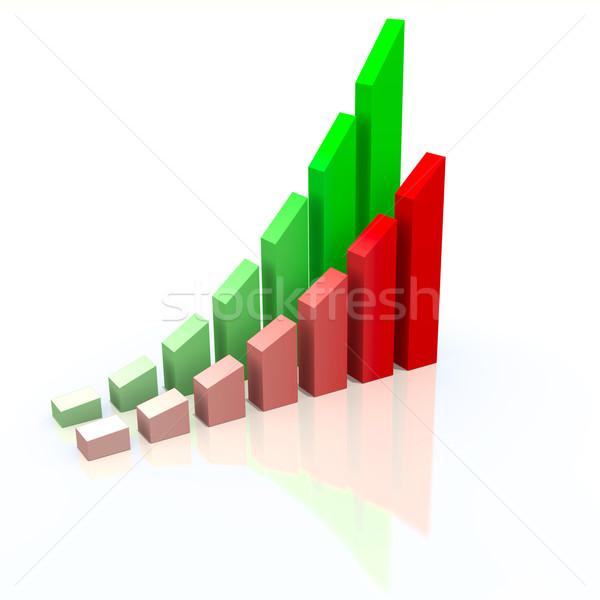 Resumen tabla éxito negocios dinero bar Foto stock © dengess