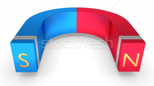 Horseshoe magnet Stock photo © dengess