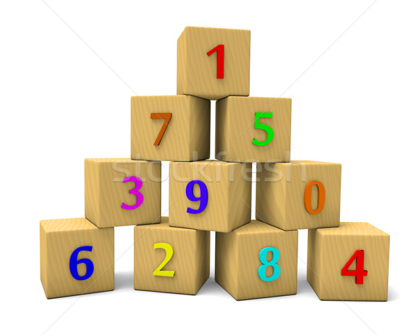 numbered cubes Stock photo © dengess