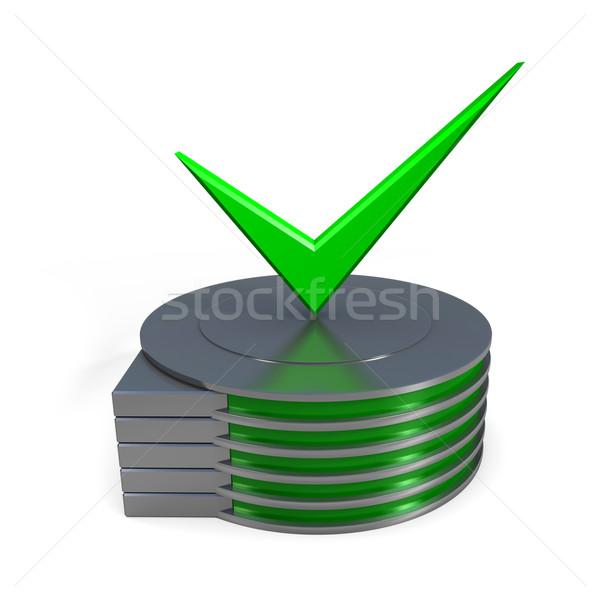 Sabit disk sürmek ikon iş Sunucu ağ Stok fotoğraf © dengess