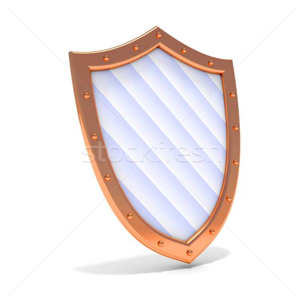 Resumen bronce escudo protección 3d diseno Foto stock © dengess
