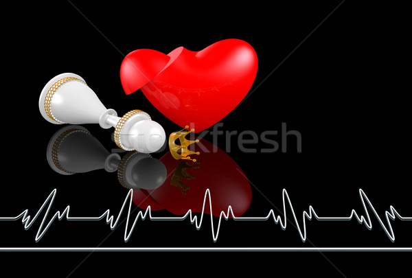 heart attack and chess queen Stock photo © dengess