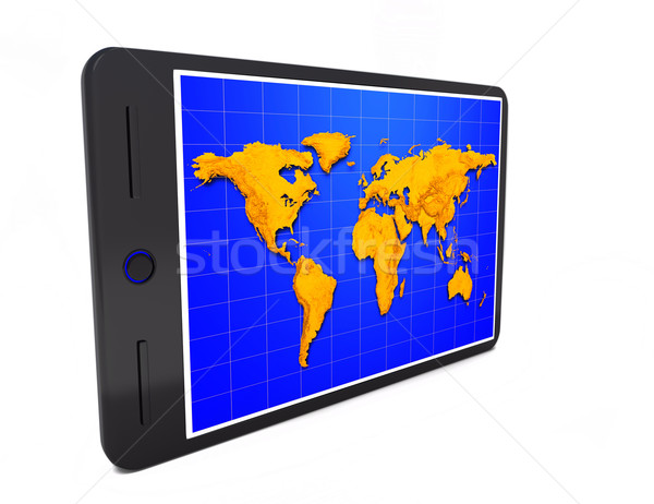 Mapa del mundo blanco mapa mundo web Foto stock © dengess