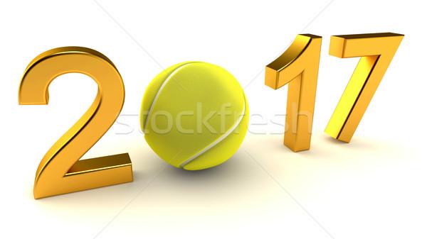 Tennis ball 2017 Stock photo © dengess