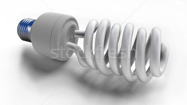 蛍光灯 電球 白 抽象的な 背景 スペース ストックフォト © dengess