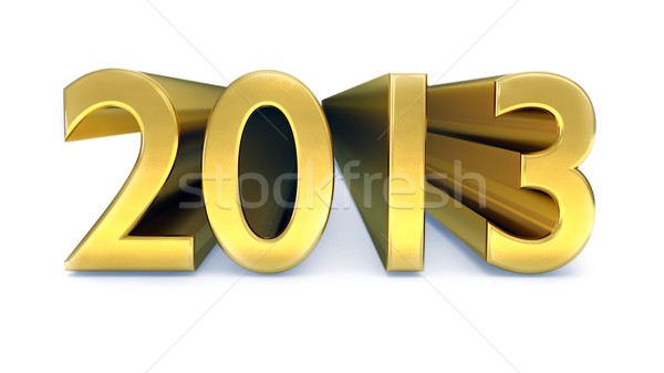 Gold year 2013 Stock photo © dengess
