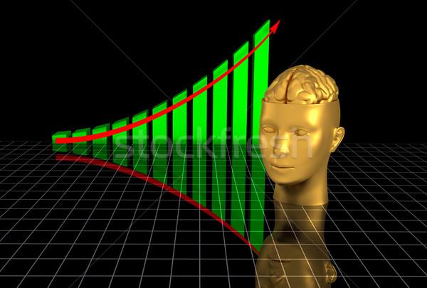 Foto d'archivio: Grafico · cervello · cervello · umano · nero · studente · bar