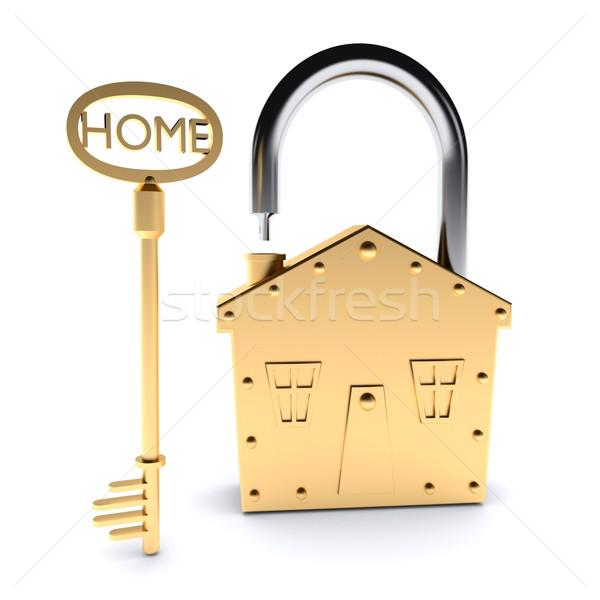 Lock and Key Stock photo © dengess