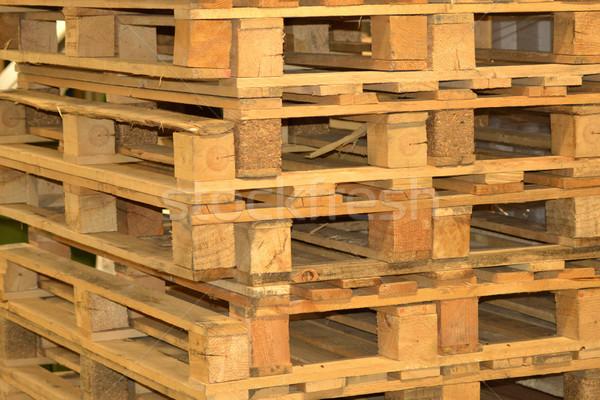 Houten business textuur hout technologie achtergrond Stockfoto © dengess