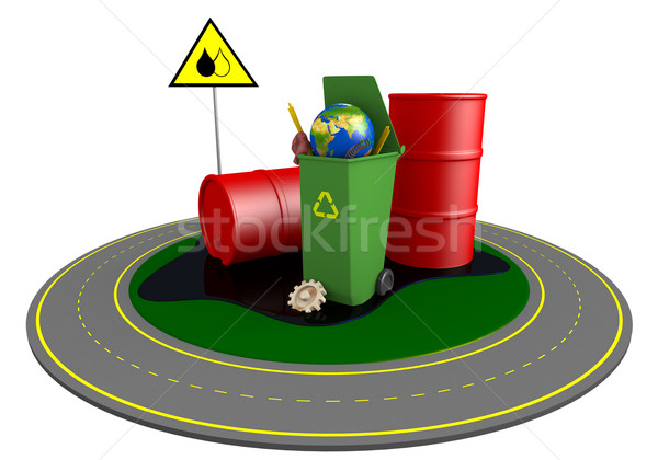 Garbage and roundabout route Stock photo © dengess