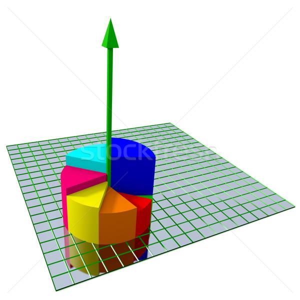 Business grafiek abstract geïsoleerd geld achtergrond Stockfoto © dengess